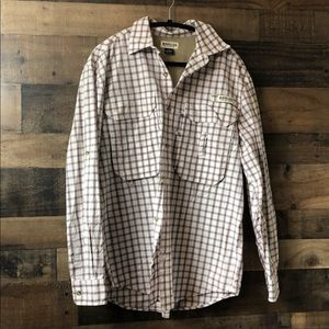Magellan Plaid Sportswear Long Sleeve Button Up